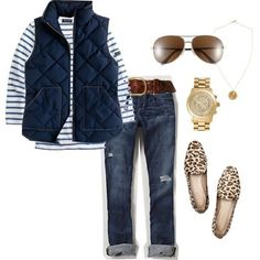 Nwt j. Crew excursion quilted novelty puffer down vest navy blue xs s m l xl xxl Mode Outfits, Casual Outfits, Fashion Outfits, Womens Fashion, Fall Winter Outfits, Autumn Winter Fashion, Winter Style, Mode Jeans, Mode Plus