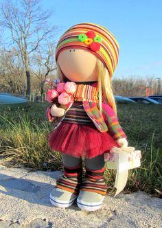 CLOTH DOLL handmade doll fabric doll The от NICEDOLLSANDRABBITS