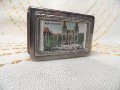 Silverplate matchbook holder, souvenir RIJKSMUSEUM AMSTERDAM, match book holder by HandPycd on Etsy https://www.etsy.com/listing/216626796/silverplate-matchbook-holder-souvenir