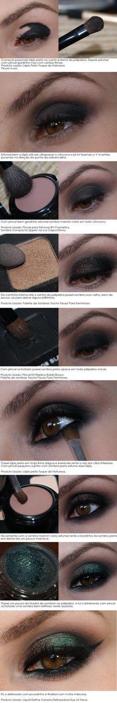 tutorial luar do oceano cacau-makeup.blogspot.com