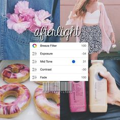 Bright afterlight filter that gives your photos a pinkish tint! - Comment your favorite pink emojis!