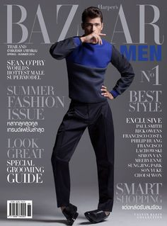 Sean O'Pry for Harpers Bazaar Men Thailand   F.TAPE   Fashion Directory