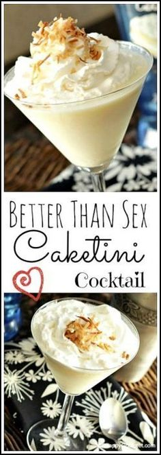 Better Than Sex Caketini Cocktail drink recipe – easy and fun twist on the cake! Fancy Drinks, Cocktail Drinks, Cocktail Recipes, Alcoholic Drinks, Vodka Cocktails, Drinks Alcohol, Cake Vodka Drinks, Cocktail Maker, Cocktail Desserts