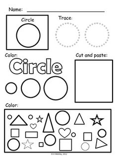 Super Simple Shape Worksheets, PreK-K, Special Education, Early Math - MamaVonVintage - TeachersPayTeache. Preschool Lessons, Preschool Worksheets, Preschool Learning, Kindergarten Math, Preschool Shapes, Simple Math, Super Simple, Simple Shapes, Teaching Shapes