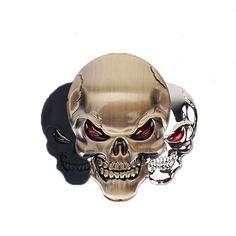 3D Metal Skull Car Sticker //Price: $8.99 & FREE Shipping//     #CarDoings #Cars #Automotive #Ferrari #BMW #M3 #M4 #M5 #Mercedes #AMG #Porsche #Audi #Honda #Ford #Volkswagen #Volvo #Kia #Mazda #Chrysler #Subaru #Lexus #Dodge #Hyundai #Chevrolet #Jeep #Nissan #Toyota #Tesla #Car #Supercar