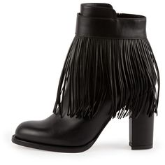 Valentino Fringe Leather Ankle Boot and other apparel, accessories and trends. Browse and shop 12 related looks.