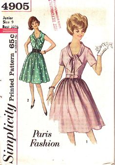 The tie neck is so cute. Love this style. . .wish I was back in the 50's & 60's!