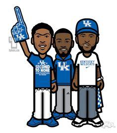 "BIG Blue Nation @KentuckyMBB ""#MarchMadness"" Tyke Set. @AntDavis23 @JohnWall & @boogiecousins http://www.instagram.com/mytyke"