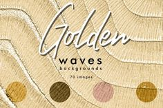 Golden waves backgrounds by KsaniaDesigner's Shop on @creativemarket