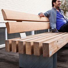 SL Rough&Ready 6 Benches - Robuuste bank met 6 balken en hoge rugleuning