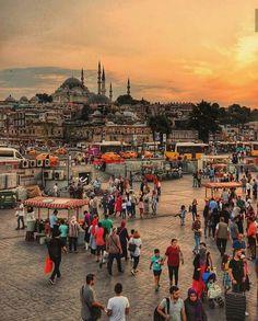 ✿ ❤ Eminönü Meydanı, Istanbul, Turkey. - #Eminönü #istanbul #Meydanı #Turkey Visit Istanbul, Istanbul Travel, Places Around The World, Travel Around The World, Around The Worlds, Travel Images, Travel Photos, Places To Travel, Places To Visit