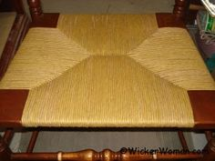 Paper rush seat weaving instructions and hints