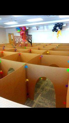 cardboard box maze so cool! kids toys