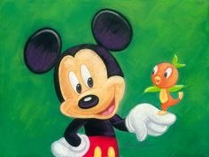 Disney Design Group Senior Character Artist Monty Maldovan Artwork Featuring Mickey and His Pal the Florida Orange Bird Mickey Mouse Quotes, Mickey Mouse Pictures, Mickey Mouse Cartoon, Mickey And Friends, Disney Fan Art, Disney Love, Disney Mickey, Disney Tips, Disney Stuff