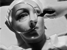"""...""""An army of beauty experts invaded her home on Sunset Boulevard""""...they had to make Gloria Swanson look older for her role..."""