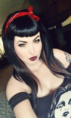 Love, love, love! Rockabilly Hair and Makeup inspiration:: Rockabilly Pin Up Girl:: Edgy Retro