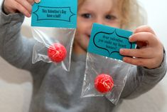 Valentines Day - Instead of Candy. Cute idea. Blog with some ideas for boy stuff. :)