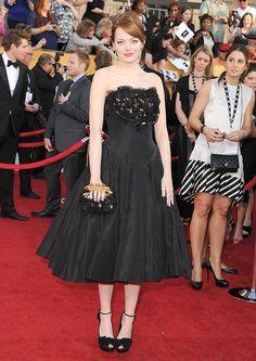 Red Carpet Fashion: Emma Stone, SAG Awards 2012