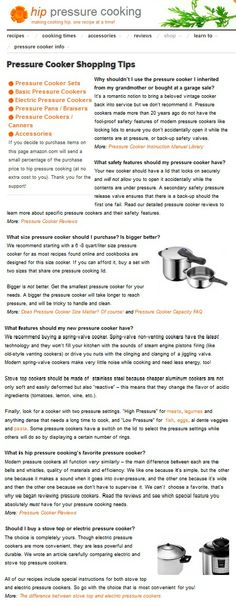 Pressure Cooker Buying Tips