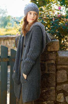 Lana Grossa HALBPATENTMANTEL MIT TASCHEN Alta Moda Cashmere 16/Scala - FILATI No. 52 (Herbst/Winter 2016/17) - Modell 39 | FILATI.cc WebShop