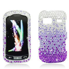 PURPLE WATERFALL Rhinestone/Diamond/Bling/Crystal Hard Plastic Protector Case Cover for LG Rumor Reflex LN272 (Boost Mobile/Sprint) - Get bling fabulous with these rhinestone adorned phone shells. Simply snap them over your phone for stylish glamour while also protecting your phone. The phone remains fully functional and you can still access the charger port, volume buttons, etc. - http://groovycellphone.com/purple-waterfall-rhinestonediamondblin...