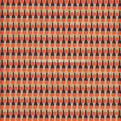 papier fantaisie origami et encadrement - Motifs géométriques 70's. Orange beige et noir - Nouveauté juillet 2014 : Origami par nature-de-carton