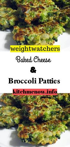 Ingredients: 2 teaspoons vegetable oil 2 cloves garlic – minced onion – chopped 1 ounce) bag frozen broccoli – defrosted cup panko breadcrumbs cup sharp cheddar cheese cup parmesan cheese 2 eggs – beaten salt/pepper Instructions: preheat the oven to 400 Ww Recipes, Veggie Recipes, Real Food Recipes, Healthy Recipes, Weigh Watchers, Weight Watchers Meals, Baked Cheese, Cheddar Cheese, Broccoli Patties