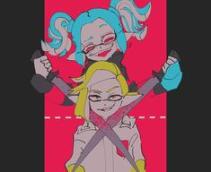 (8) Twitter Marina Splatoon, Splatoon 2 Art, Nintendo Characters, Fictional Characters, Pearl And Marina, Callie And Marie, Killua, Rwby, Manga Art
