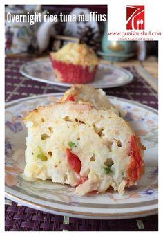 Tuna Overnight Rice Muffins (吞拿鱼隔夜饭咸香马芬)