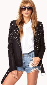 Street Chic Spiked Moto Jacket
