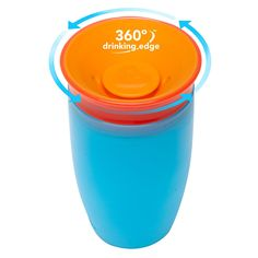 Miracle 360° Cup - spoutless toddler cup. Kids can drink from anywhere around the rim, just like a regular cup, but without any of the spills. #miraclecup