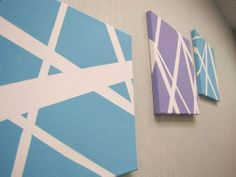 simple canvas painting ideas | Canvas DIY How to Paint a Chevron Canvas How to Stencil a Canvas Easy ...