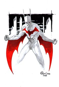 Batman Beyond Sketch by Pasquale Qualano