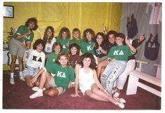 sorority history ~ Kappa Delta 1989 at the University of West Georgia!
