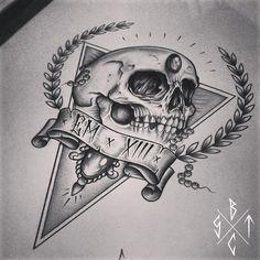 C x I x D Skull / Triangle by EdwardMiller
