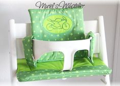 Tripp Trapp Kissen Set - muriels-nähatelier Accent Chairs, Furniture, Home Decor, Atelier, Special Gifts, Baby Favors, Pillows, Nice Asses, Upholstered Chairs