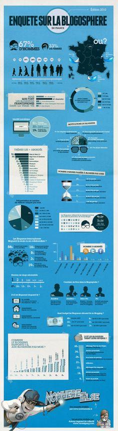 Infographie sur la blogosphere Française !