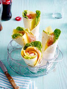 Käse-Schinken-Wraps