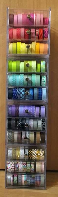 Washi Tape Storage, Washi Tape Crafts, Washi Tapes, Cinta Washi, School Suplies, Diy And Crafts, Arts And Crafts, I Love School, Drawing School