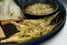 Zucchini, Corn: Corn Boats with Zucchini & Pepper Jack Cheese