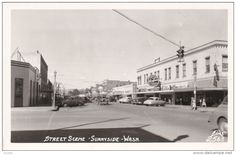 RP: Main Street , SUNNYSIDE , Washington , 1930-40s : ELLIS #2563 - Delcampe.com