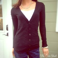 Express Black Cardigan Sweater Great basic piece! Beautiful condition! Soft. The Chic Shed; A Current and Classic Fashion Curation.  10% OFF BUNDLES I ❤️ THE OFFER BUTTON ❌NO PP, TRADES, HOLDS❌  15% OFF RETURN BUYER BUNDLES Express Sweaters Cardigans