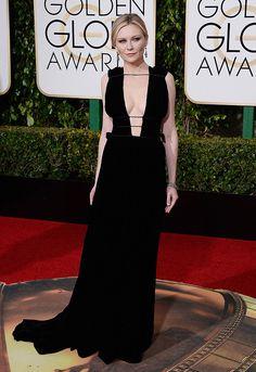 Kirsten Dunst Red Carpet Golden Globes