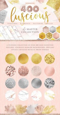 I am so proud to introduce the stunning new 'Luscious Textures Master Collection' - A carefully curated collection of over 400 stunningly detailed textures, seamless backgrounds, styles & elements. #textures #photoshop #affiliate