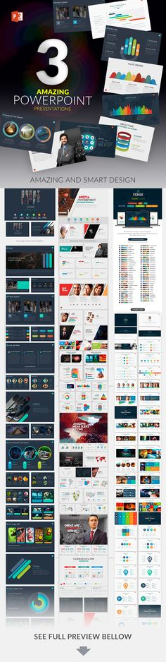 Graphic design portfolio presentation powerpoint template download 3 powerpoint templates pack by zacomic maxwellsz