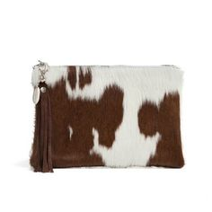 Arundell Cowhide Clutch - Chocolate