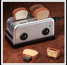 Fun file transfer with this USB toast and toaster :-)