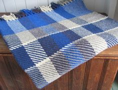 Blanket Artisan Woven Plaid Wool Twill Rustic by aclhandweaver,