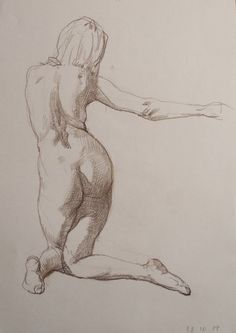 "El artista de arte de Saatchi Oleg Sergeev; Dibujo, ""Desnudo # 23"" #art"