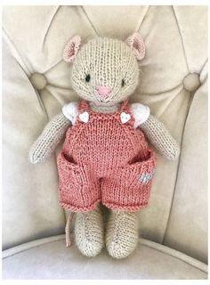Knitting Dolls Free Patterns, Knitted Dolls Free, Knitted Bunnies, Knitted Animals, Hand Knitting Yarn, Knitting For Kids, Free Knitting, Knitting Projects, Baby Knitting